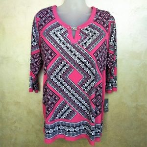 JM Collection Tunic Top NWT 1X